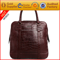 Guangzhou factory OEM brand name fashion crocodile grain leather evening bags