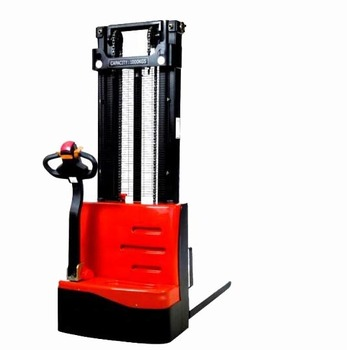 2200LB Electric Powered Walkie Stacker Red Color