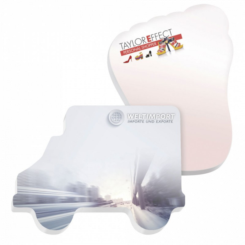 Small MOQ custom design house shaped sticky note pad