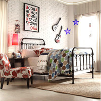 China suppiler antique furniture metal king size round bed on sale
