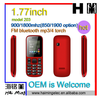 1.77 inch screen small dual sim cheap bar OEM cell phone Model 203