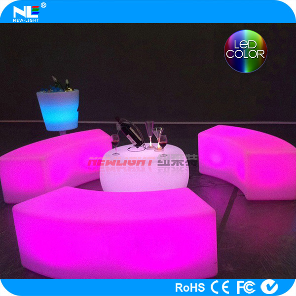 Interactive illuminated LED bar furniture table & chair for party/home/bar
