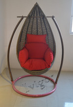 Promotion Garden indoor/outdoor egg shaped cane swing chair