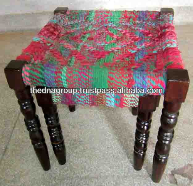 ANTIQUE TRADITIONAL WOODEN OTTOMAN
