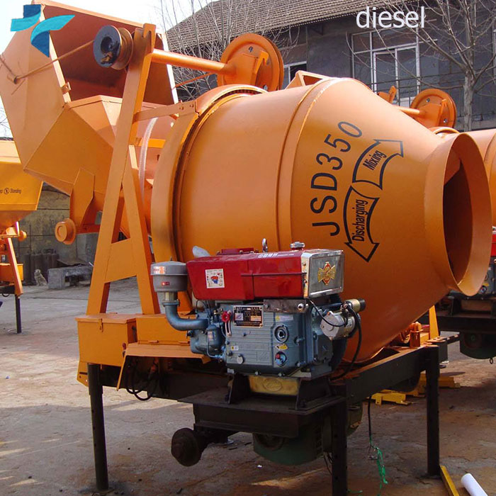 JZR250 Self Loading Diesel Engine Portable Diesel Concrete Mixer in Zambia