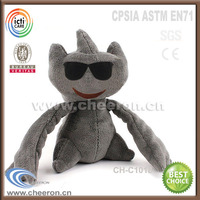 Black cat red embroidery eyes stuffed animals cats
