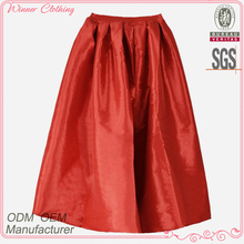 Ladies' fashion elegent high quality garment factory young girls in skirts