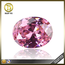 Wholesale grade quality oval faceted cut cz diamonds pink cubic zirconia color cz gems