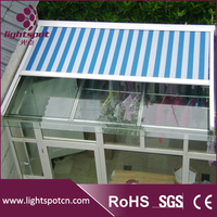 Aluminum retractable roof top canopy for pergola outdoor foldable roof top canopy for pergola