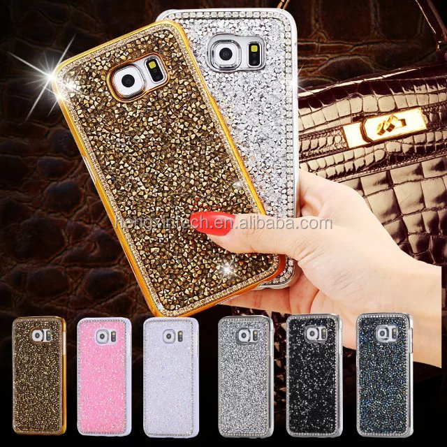 Luxury Crystal Bling Rhinestone Top Quality Diamond Hard Back Case Cover for Samsung Galaxy S7, S7edge