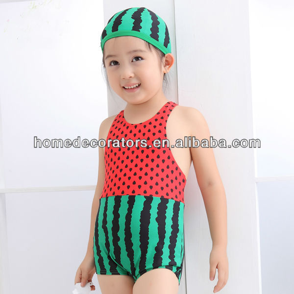 Traje Baño Natacion Ninos:Sexy sandía niño bikini traje de baño para niños-Vestuario de