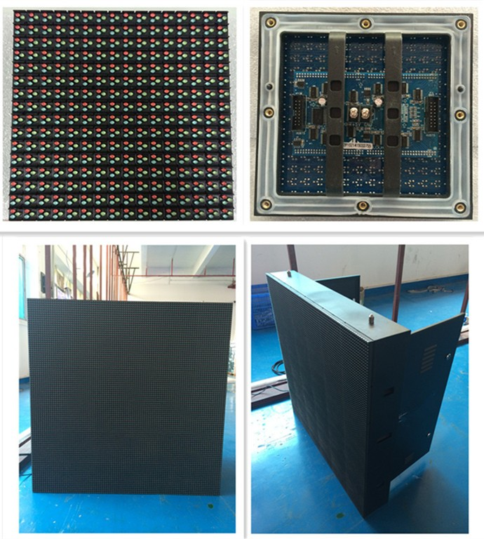 6500cd/sqm p10 1R1G1B full color led display outdoor
