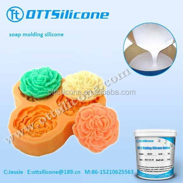 Amazing fluidity RTV silicone rubber for beautiful decorative silicone soap and candle molds