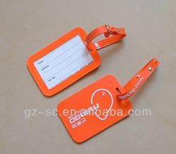 Plastic luggage tag with good quality