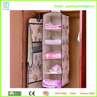 5 tiers closet foldable fabric closet shoes hanging organizer storage box