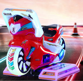 Simulator arcade video game 3D racing car motorcycle kiddies rides for sale