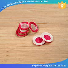 customed resin two holes big red sewing buttons for garment accessory