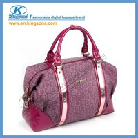 2012 Fashionable Series Purple lady handbag with laptop compartment