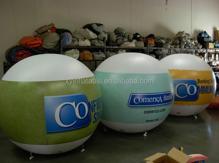 promotional cheap inflatable advertising balloons/self floating balloons