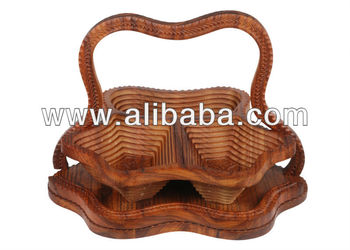 Wooden Collapsible Basket