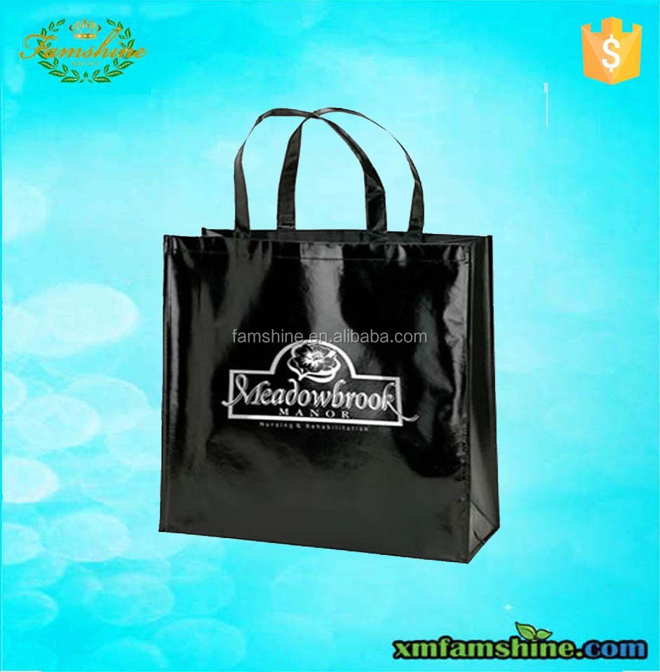 eco non woven gloss laminate bags/ laminated shopping bag
