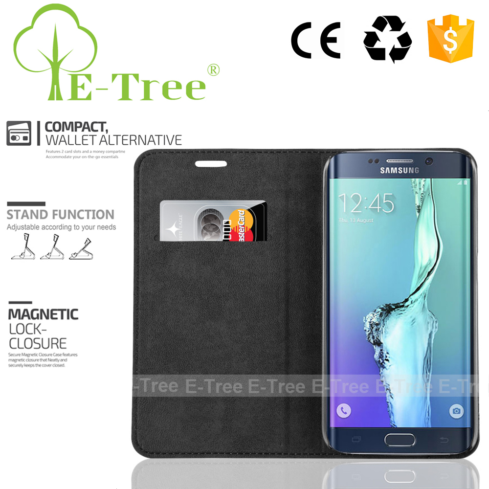Multifunctional Flip Cover Leather Phone Case For Samsung Galaxy S6 Edge
