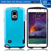 Hard Case with Credit Card Slot Stand for Samsung for Note 4, for Note 4 Case
