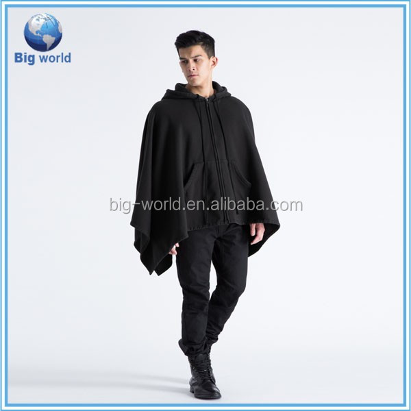 Modern men's cloak China Customized Autumn or Spring zipper hoodie 100% cotton fleece high quality hoodie men