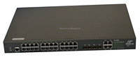 snmp managed industrial 24port 100m poe switch