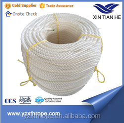 High quality 3strand 40mm nylon braided rope/ropes/string/clamps for sailing