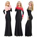 Wholesale one piece long sleeve plus size maxi long dress