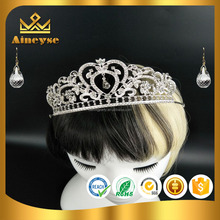 Beauty crystal pageant crowns with high quality for beauty contest