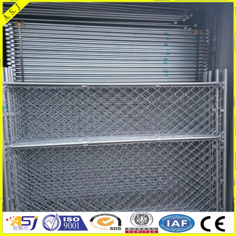 Easy assembly anti-rust galvanized steel temporary fence