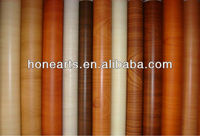 wood Grainy floor decoration film with adhesive