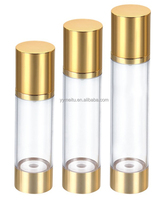 Round 80ml,100ml,120ml Manufacturer Aluminum Coated Airless Bottle for Skin Care lotion Airless Pump Bottle Containers