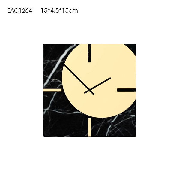 Clock design black marble wall clock not real marble print marble clock
