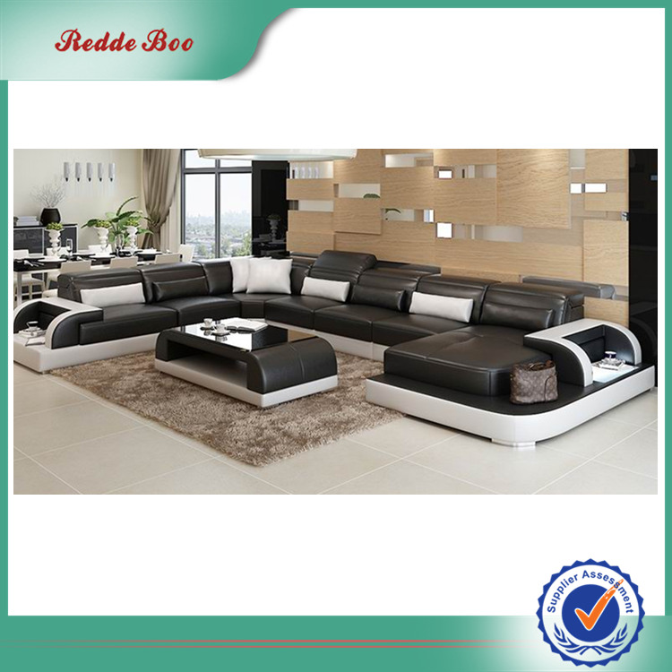 Modern sectional the leather factory <strong>sofa</strong> with LED