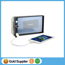 2DIN Car DVD / CD/ mp5 / usb / sd / player Bluetooth Handsfree Rearview after Touch screen hd system Radio BT+camera