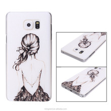 Girl Figure Printed Bling Diamond Hard Back Case Cover Luxury Protective For Various Cell Phone