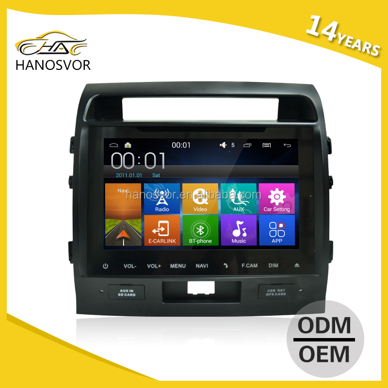 double din android system car GPS navigation for toyota land cruiser