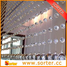 2016 clear crystal beaded chain drapery/ room divider/home decor
