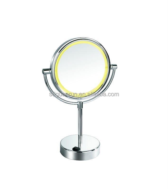 Oval Double-Sided Lighted Mirror -Oiled-Bronze Finish available