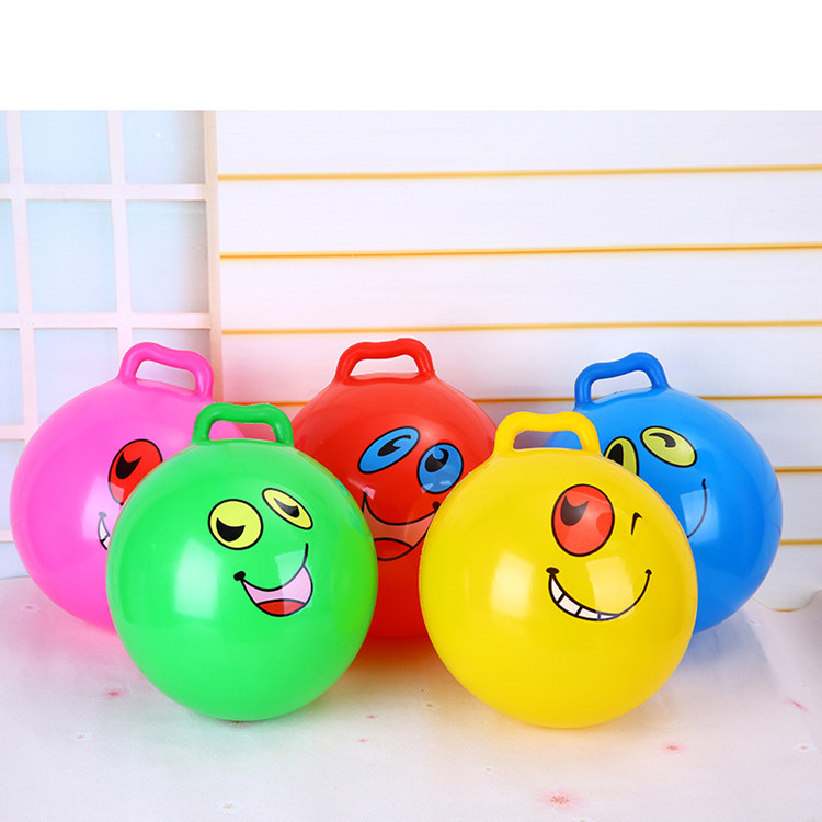 Children's toys inflatable racket shoots kindergarten baby child handle ball cartoon pattern elastic ball small ball