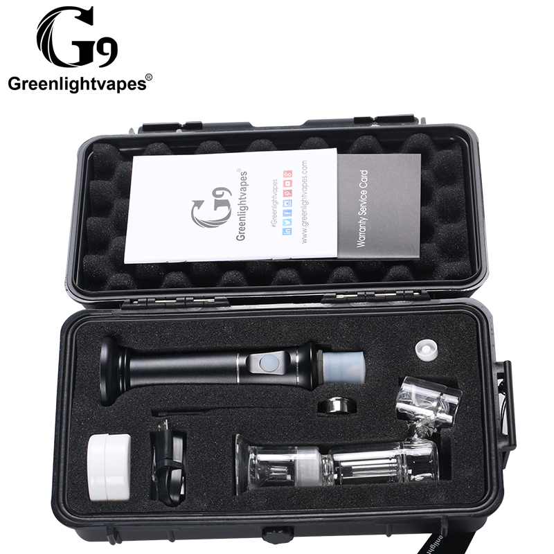 Smart water pipe glass smoking vaporizer G9 Henail Plus