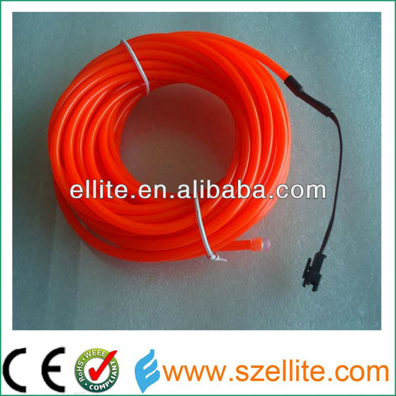 Hot sale brightness red color el wire 5mm