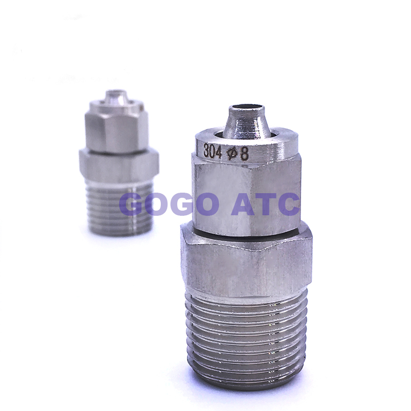 <strong>1</strong>/4'' male thread,<strong>O</strong>.D 8 mm PU tube fast twist forged fittings stainless steel sanitary fittings