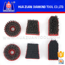 Different shapes china diamond polish abrasive brush for stone surface grinding