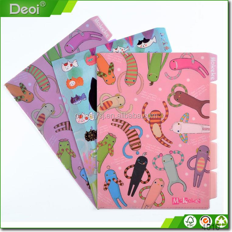Recycle cute colorful paper expandable file folder