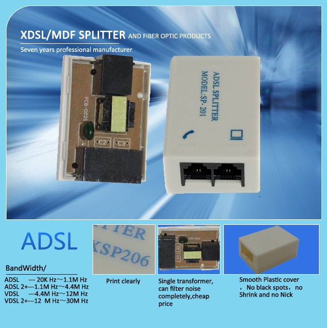 one way to two way adsl and phone with rj11 splitter