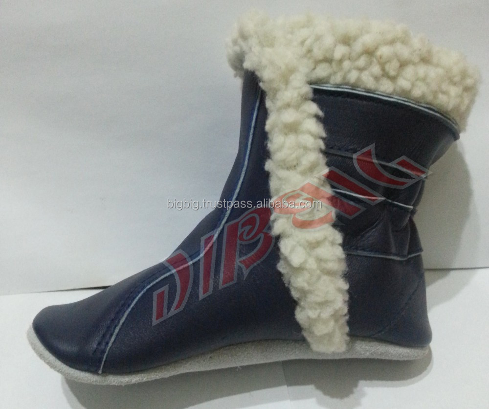 Snow Toddler Leather Baby Booties girls & boys